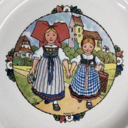 Détail d'une assiette Hansi - Faïencerie Utzschneider