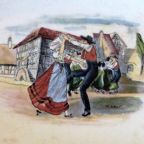 Détail d'une assiette Obernai - Faïencerie Utzschneider